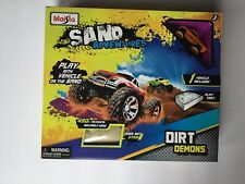 NEW Maisto Arenas Dirt Demons With Off Road Orange Monster Truck, Play Tray