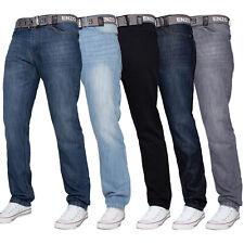 Enzo Hommes Créateur Jeans Coupe Standard Pantalon Grand Haut Tout Taille