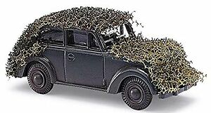 Opel Olympia mit Tarnnetz with camouflage net 1:87 Military Edition