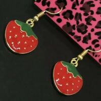 Betsey Johnson Strawberry Earrings