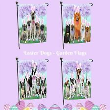 Easter Holiday Garden flag, Dogs, Cats, Pet Photo Lover Garden Decor Gifts
