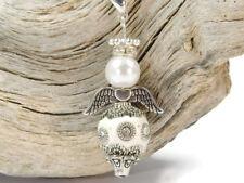 3 À faire soi-même Charm Pendentif Ange Protection Ange changement Remorque Blanc Perles Ange