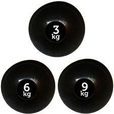 FXR SPORTS SET OF 3 SLAM BALL NO BOUNCE MEDICINE BALLS FITNESS MMA - 3,6,9KG