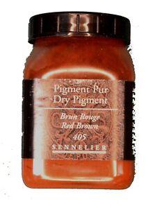 Sennelier Artist Quality Dry Pigment Red Brown  plastic pot