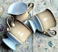 Pair of Denby Seville Stoneware Cups & A Matching Creamer In Perfect Condition