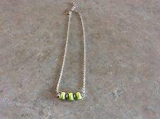 Lia Sophia Block Party Key Lime Necklace