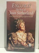 """ENCORE!"" THE BEST OF JOAN SUTHERLAND~LIVE FROM THE SYDNEY OPERA HOUSE~VHS VIDEO"
