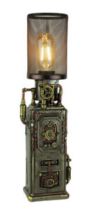 Steampunk Industrial Fuel Dispenser Tower Table Lamp