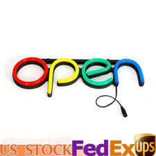 Led Open Business Board Electric Led Neon Sign Light Colorful Business Card 12v