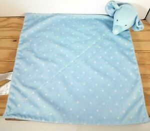 Carter's Child Of Mine Blue with Stars Elephant Security Blanket Rattle Baby
