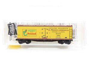 "N Micro-Trains MTL 49480 MACX Mahaffey ""Parrot Potatoes"" 40' Wooden Reefer #3300"
