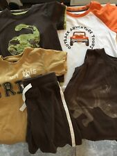 Gymboree Lot Of 5 T-shirt Shorts Boys Size 3 3t 4 Dinosaurs Rhino Jeep Tribe