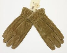 CAMEL ACTIVE MEN'S QUALITY NUBUCK LEATHER GLOVES SIZE LARGE RRP £59.95 SAVE 65%