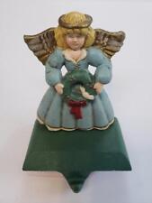 Weighs 2 lb 7 oz Lulu Decor 100/% Cast Iron Brown Fairy Angel Stocking Holder