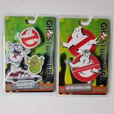Ghostbusters Eraser Set & 1Gb Usb Eraser Combo Slimer Stay Puft Marshmallow Man