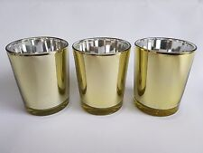 48 GOLD Votive Tealight Candle Holder BULK BUY 48 PACK Parties Weddings Events