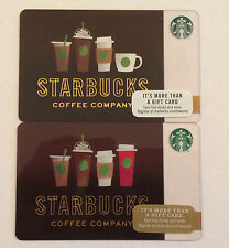 NEW-STARBUCKS COFFEE COMPANY 2016-2017 SUMMER DRINK LINE UP GIFT CARDS