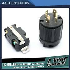 Male & Female Receptacle Brand New Generator Rv Ac Plug Socket L14-30 120V 220V