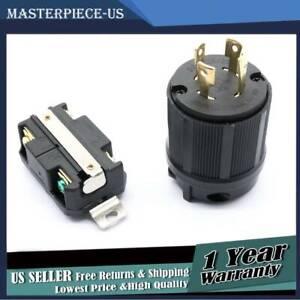 Male & Female Receptacle Brand New Generator Rv Ac Plug Socket L14-30 120V 220V