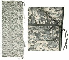 """Military Type ACU Digital Camouflage 82"""" Rip-Stop Poncho Liner w/ Zipper & Ties"""