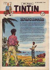 TINTIN 1948 n° 40 couv Husy ,pays or noir