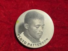 Floyd Patterson  world champion boxer HEAVYWEIGHT 1956-1962 Pinback