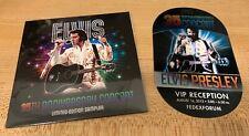 VERY RARE SEALED ELVIS PRESLEY 35TH ANNIVERSARY PROMOTIONAL SAMPLER CD & BADGE