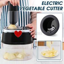 2L Electric Vegetable Fruit Quick Cutter Chopper Grater Kitchen Slicer + 4 Blade