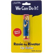 Rosie The Riveter Cherry Flavored Lip Balm NEW Toys Fun Joke Gag Gift