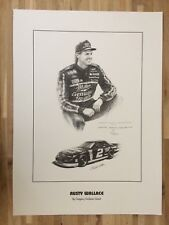 NASCAR Art Print RUSTY WALLACE By Gregory Graham Grant Artist Signed 80/2800