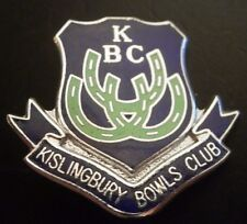 Kislingbury Bowls Club KBC Bowling Brooch Pin Badge