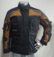 NEU MODEKA Motorradjacke Tourer Biker Protektoren Jacke M L XL Schwarz Braun