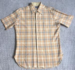 PENDLETON Large Short-Sleeve Plaid Shirt - 100% Virgin Wool