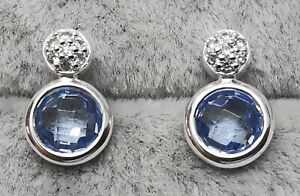 """Tous 815603000 White Gold with Topaz and Gemstones Earrings 10mm/0.4"""""""