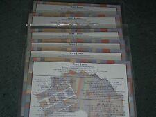 CREATIVE MEMORIES SOFT LINEN BLOCK STICKER SHEET PHOTO MATS JOUR BOX 6 PACKS NIP