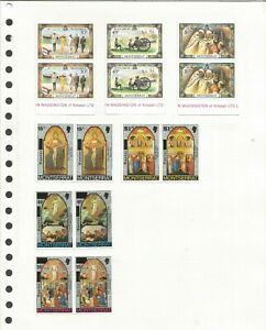 MONTSERRAT SMALL MINT COLLECTION OF ALBUM REMAINDERS +SELF ADHESIVE BOOKLET