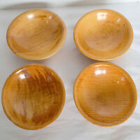 4 VTG J Shephard Nut Candy Serving Bowls Dishes Primitive USA Round Maplewood