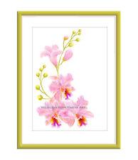 Pink Orchid Original Digital Art Giclee Print 11x16 by Velislava Kovatcheva