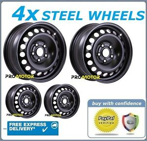 4 WINTER STEEL WHEELS COMPATIBLE WITH HONDA ACCORD (2003-2008)