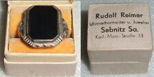 Toller Ring aus 800er Silber mit Onyx, Gr. 50,5 in OVP Rudolf Reimer Sebnitz Sa.