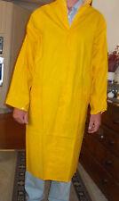 Mens Waterproof PVC Raincoat  Zip/Studs 3/4 length Yellow  sz 5XL (xxxxxl)