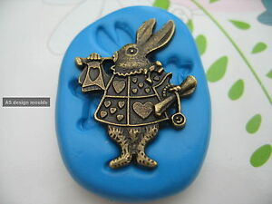 Rabbit from Alice in Wonderland Silicone Mould, Sugar Craft, Cupcakes