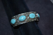 Handmade Sterling Silver and Turquoise Bracelet