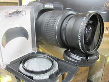 Wide Angle Macro Lens for Nikon d3300 d7100 d5100 d5000 d60 d40 d3100 w/18 nib u