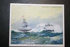 HMS Sunfish  Royal Navy Submarine  ##  Large 1930's Vintage Card