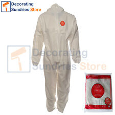 UCI White Disposable Overalls + Hood XL *Waterproof* Category 3 Type 6 Coveralls