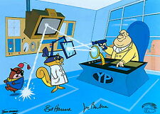 Hanna Barbera Signed Cel Secret Squirrel Yellow Pinkie Rare Animation Art Cell