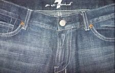 AUTHENTIC 7 FOR ALL MANKIND  Dojo Flare Jeans Coffee Swarovski Crystal.