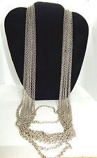 """12 pcs Silver-Zinc Plated  Size 30"""" 4mm  Chain Necklace, No Clasp(Cn B)BULK"""