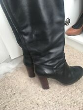Dune black knee boots size 5